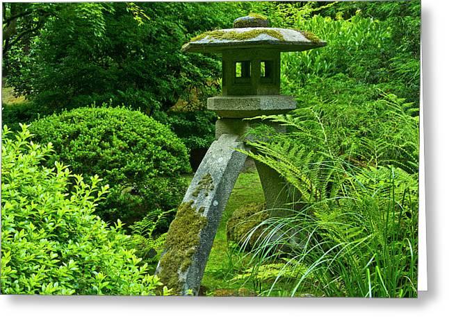 Pagoda, Summer, Portland Japanese Greeting Card