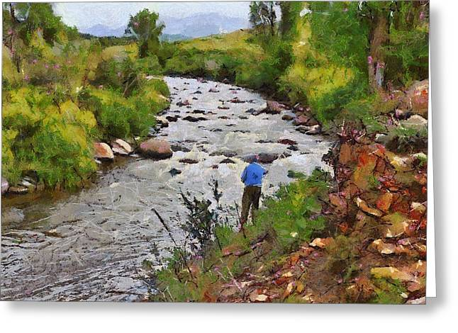 Pagosa Springs Colorado Fisherman Greeting Card