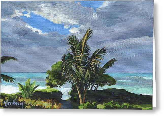 Paia Afternoon Glow Greeting Card by Stacy Vosberg