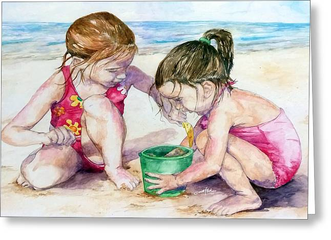 The Green Bucket Greeting Card by Brian Blackman