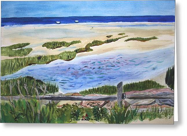 Paines Creeek Is A Wonderful Beach On Cape Cod Bay In The Town Of Brewster Ma. Greeting Card by Donna Walsh
