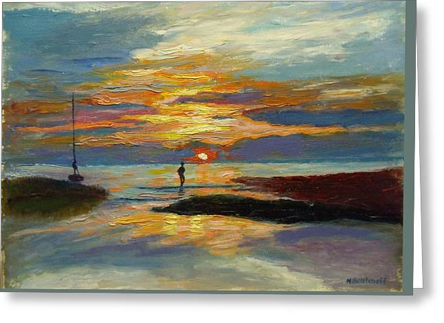 Paines Creek Sunset Greeting Card