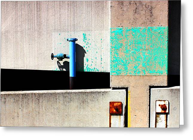 Paint And Pipe Abstract Industrial Decay Series No 003 Greeting Card by Design Turnpike