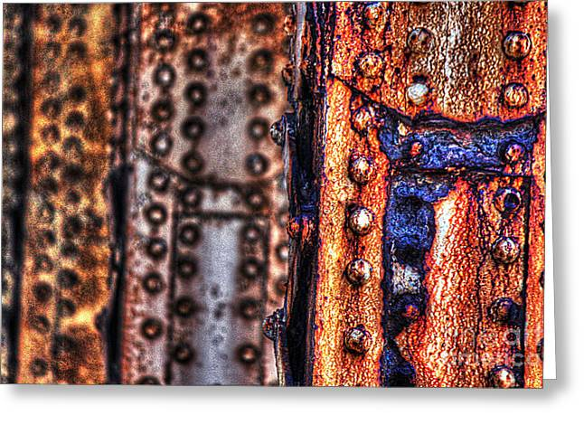 Paint And Rust 29 Greeting Card by Jim Wright