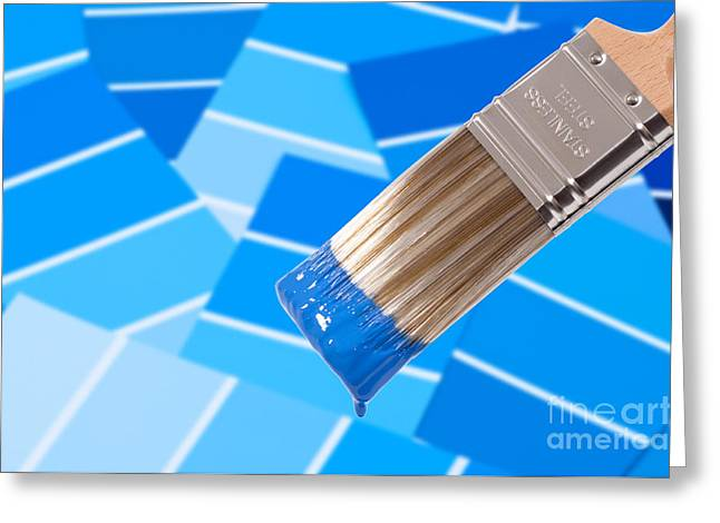 Paint Brush - Blue Greeting Card