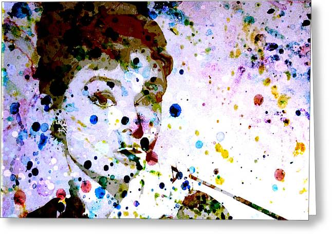 Greeting Card featuring the digital art Paint Drops by Brian Reaves