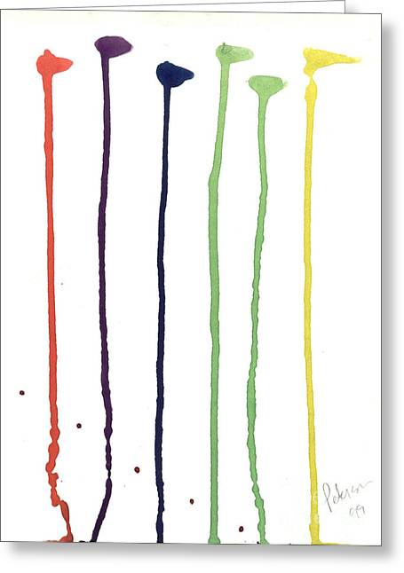 Paint Drops  Greeting Card by Cathy Peterson