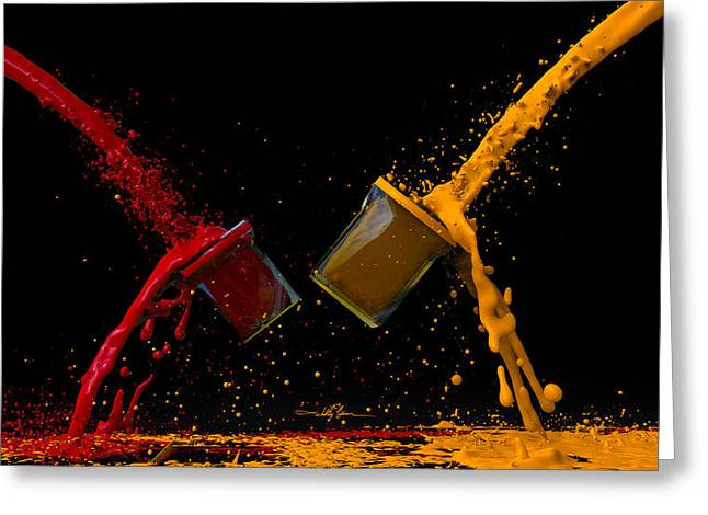 Paint Gone Wild Greeting Card