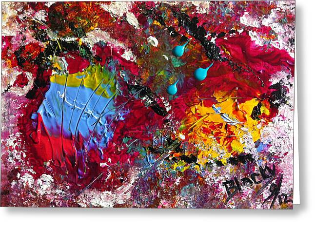 Paint Party Greeting Card by Donna Blackhall
