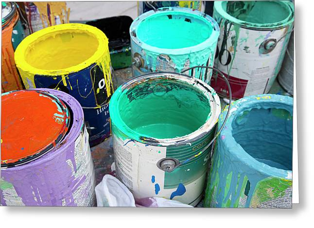 Paint Pots Greeting Card by Jim West