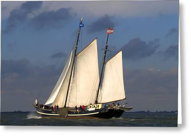 Paint Sail Greeting Card