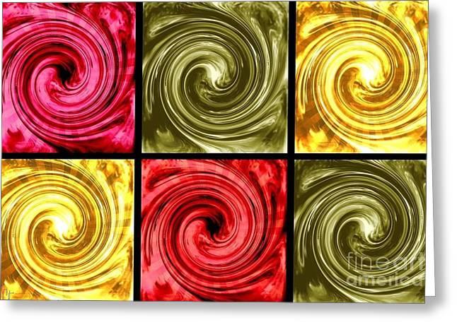 Paint Swirls 5 Greeting Card by Ann Calvo