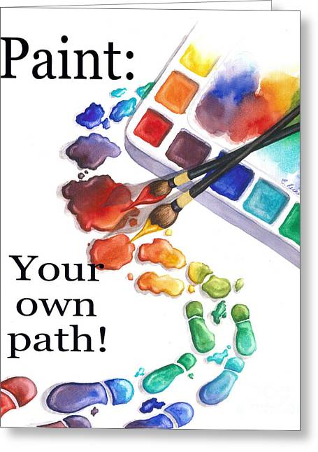 Paint You Path Greeting Card
