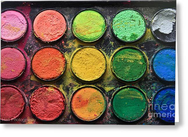 Paintbox Color  Greeting Card by Tracy  Hall