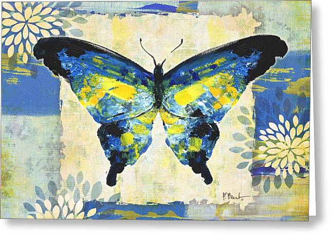 Paintbrush Butterfly I Greeting Card by Paul Brent