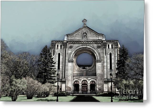 Painted Basilica 2 Greeting Card by Teresa Zieba