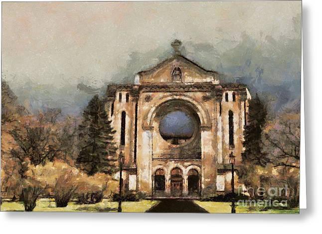 Painted Basilica Greeting Card by Teresa Zieba