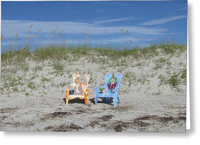 Painted Beach Chairs Greeting Card