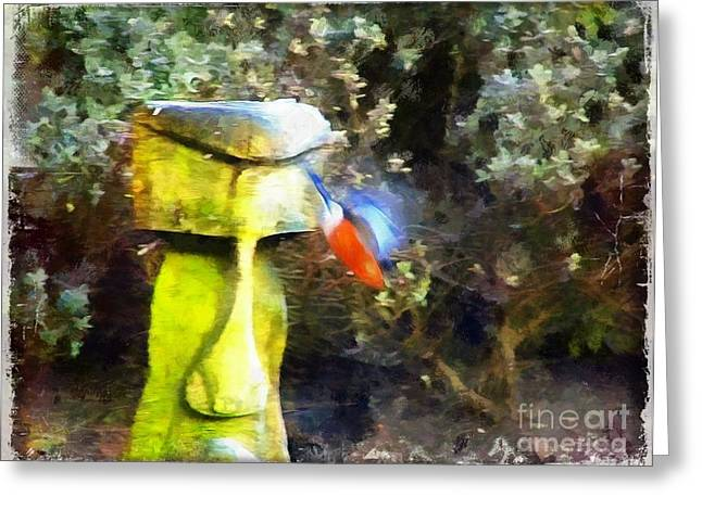 Painted Bullfinch S3 Greeting Card