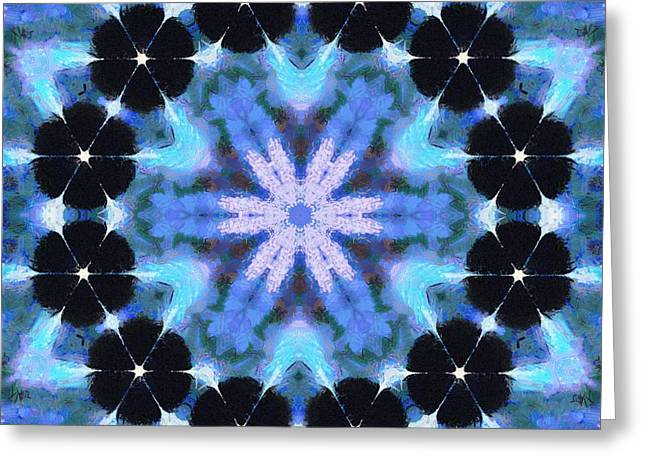 Painted Cymatics 108.00hz Greeting Card