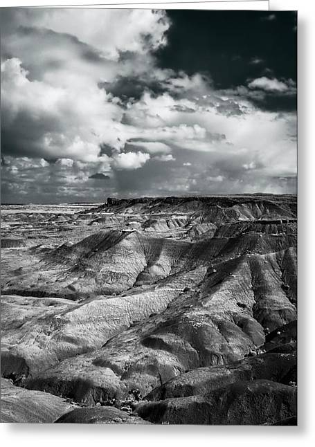 Painted Desert From Lacey Point Greeting Card by Jerry Ginsberg