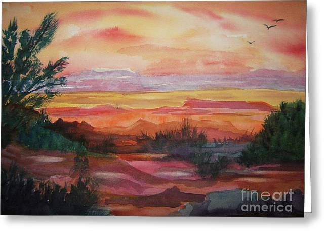 Painted Desert II Greeting Card by Ellen Levinson