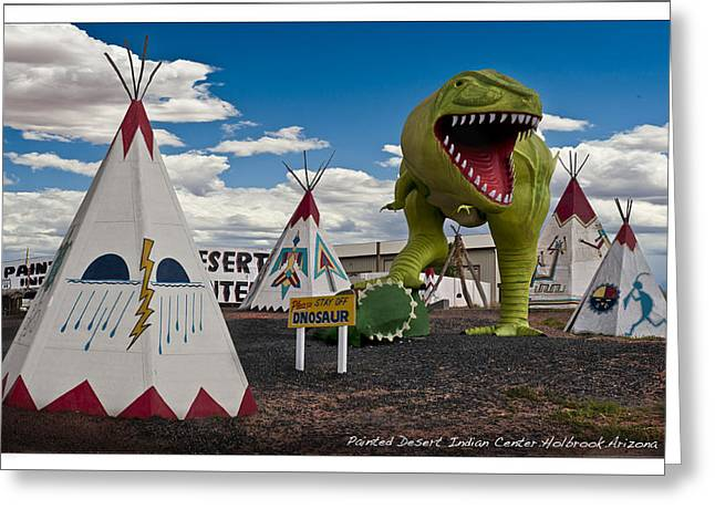 Painted Desert Indian Center  Greeting Card