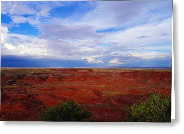 Painted Desert Landscape Greeting Card by Jeff Swan