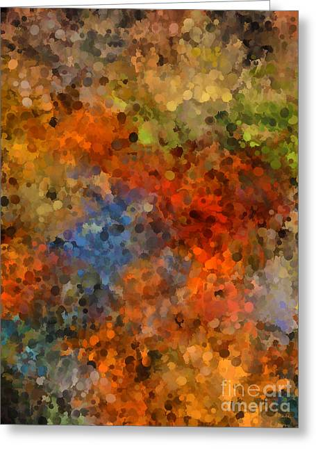 Painted Fall Abstract Greeting Card