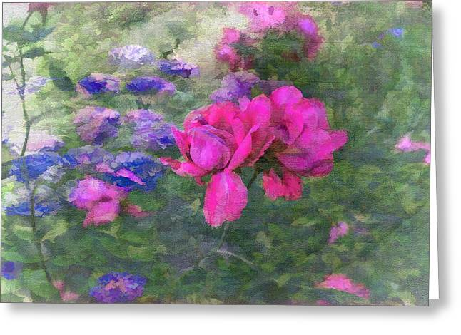 Painted Garden Greeting Card by Larry Bishop