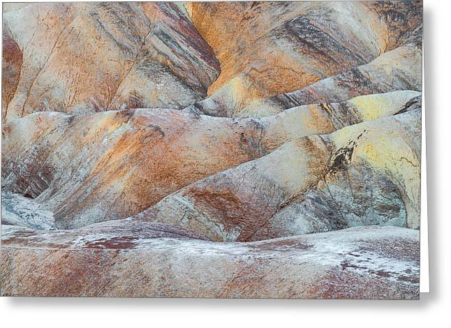 Painted Hills In Death Valley Greeting Card by Larry Marshall