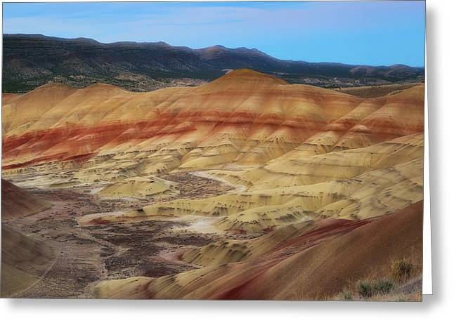 Painted Hills In Square Greeting Card by Ryan Manuel