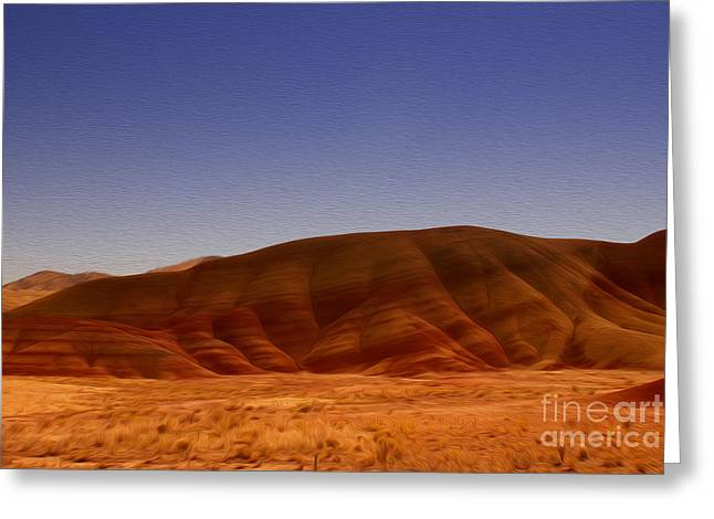 Painted Hills Greeting Card by Nur Roy