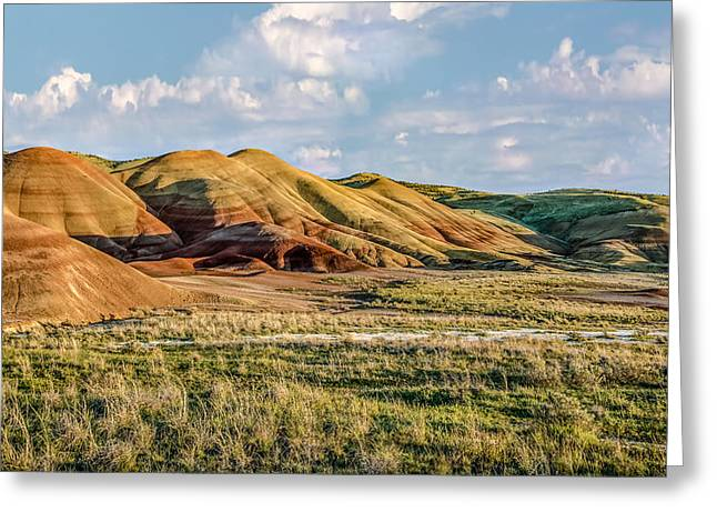 Painted Hills Sunset Greeting Card by Joe Hudspeth
