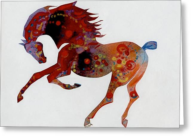 Painted Horse A Greeting Card by Mary Armstrong