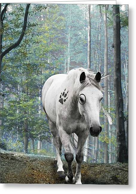 Painted Horse Greeting Card by Diana Shively