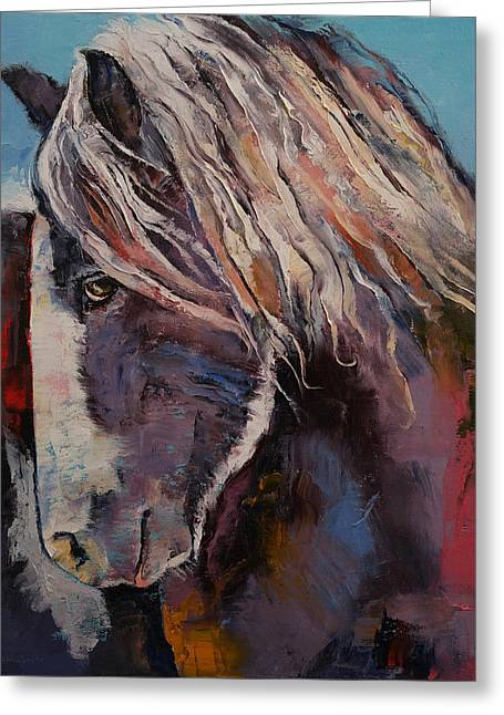 Highland Pony Greeting Card by Michael Creese