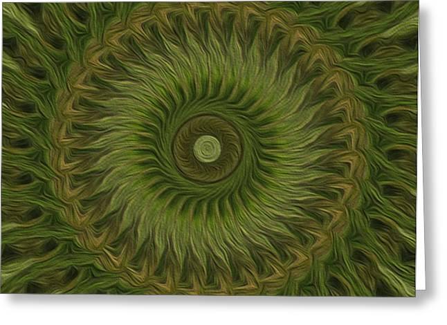 Painted Kaleidoscope 10 Greeting Card