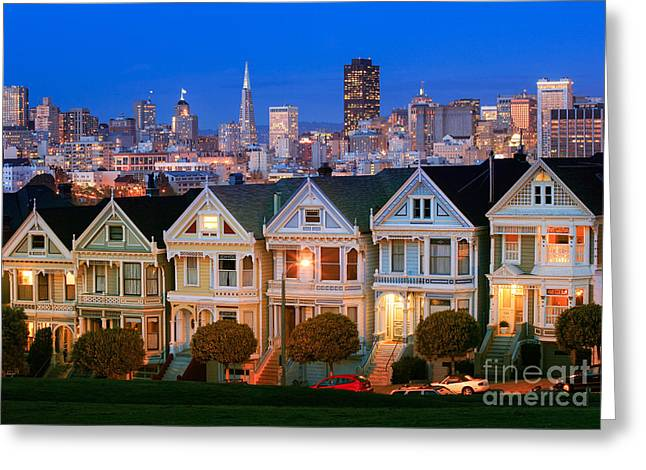 Painted Ladies Greeting Card by Inge Johnsson