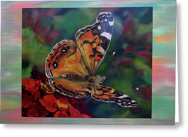 Painted Lady By Karen Peterson Greeting Card by Karen  Peterson