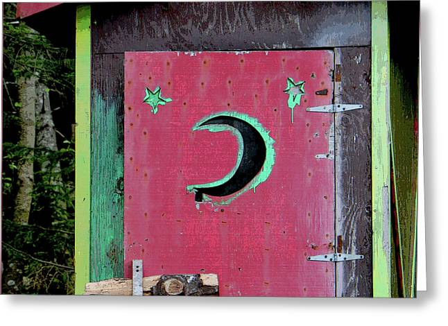 Painted Outhouse Greeting Card by Art Block Collections