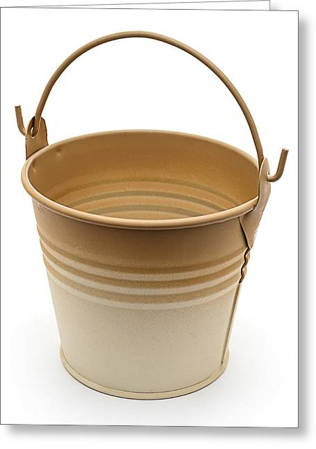 Painted Pail Greeting Card