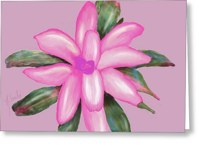 Painted Pink Greeting Card