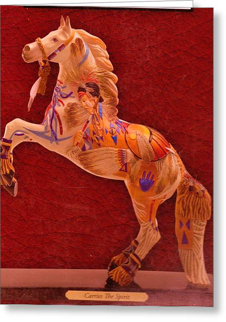 Painted Pony From My Collection Greeting Card by Anne-Elizabeth Whiteway