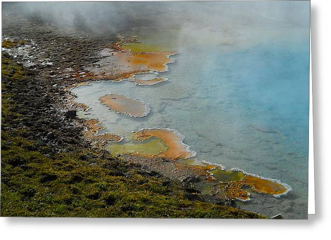 Greeting Card featuring the photograph Painted Pool Of Yellowstone by Michele Myers