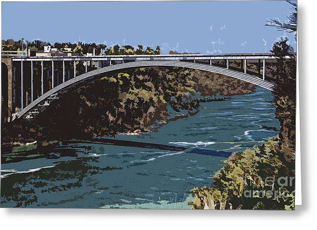 Greeting Card featuring the photograph Painted Rainbow Bridge by Jim Lepard