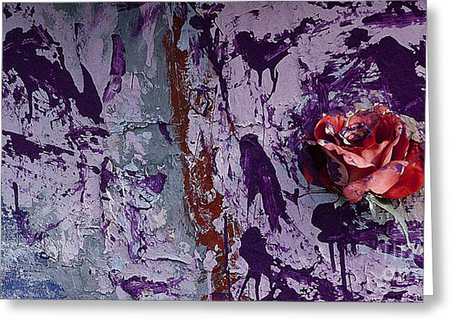 Painted Rose   #5695 Greeting Card