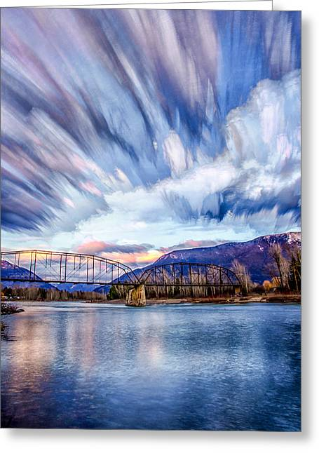 Painted Skies Greeting Card by Aaron Aldrich