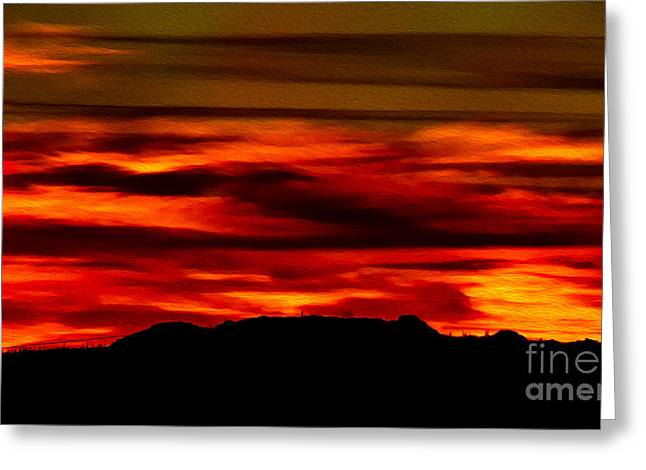 Greeting Card featuring the photograph Painted Sky 34 by Mark Myhaver