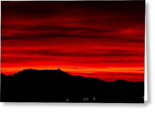 Greeting Card featuring the photograph Painted Sky 36 by Mark Myhaver
